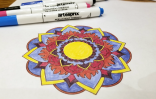 Sublimation Transfer Colored with Artesprix Markers