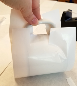 Shrink Wrap Sleeve with Handle Cut Out