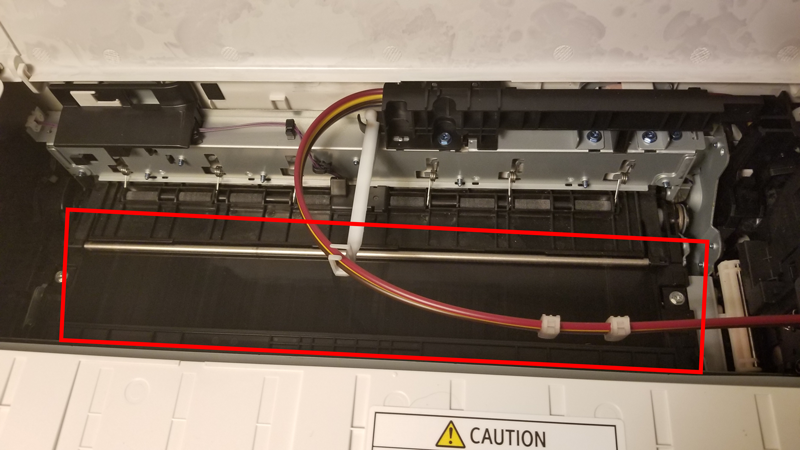 Where is the Belt in SG400 SG800 Printer