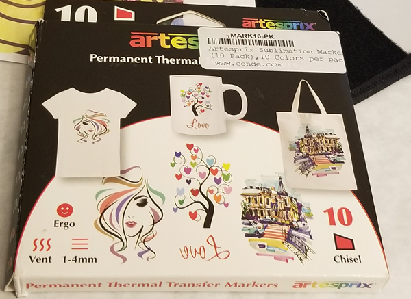 Artesprix Permanent Thermal Transfer Sublimation Markers