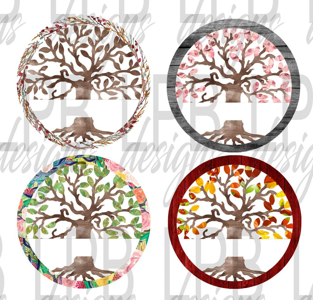 Nicky Martone Adamkiewicz Tree of Life Designs for Sublimation Transfers