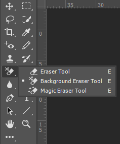 Where to Find Eraser Tools in Photoshop